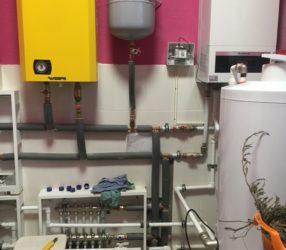 Установка и настройка автоматики в котельной с котлами Wespe Heizung Elite 8 и Buderus Logamax U-072-24